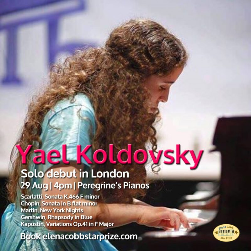 Yael Kolbovsky's Debut Solo Piano Recital in London - Elena Cobb